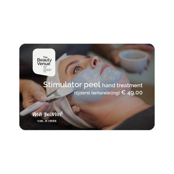 Stimulator peel hand treatment